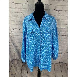 Charter Club Luxury Linen shirt 3X